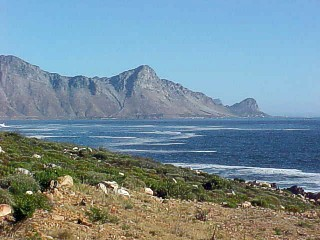 Hangklip. It forms eastern end of Valse Bay while Cape Point forms the western end.